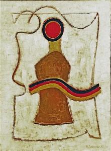 Mit Longe, 2000, Öl/Leinwand, 85x65 cm