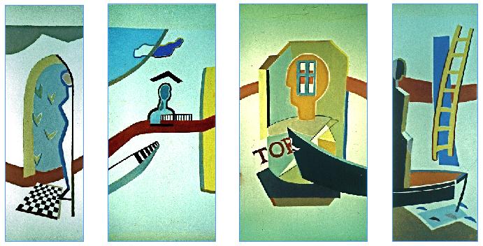 Giebel und Tor, Wandbildentwurf