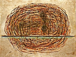 Kopflandschaft (Versunken) 2000, Öl/Leinwand, 150x200cm
