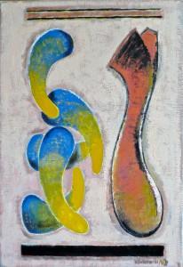 Heiß (unendlich), 2001/06, Öl/Leinwand, 65x45cm