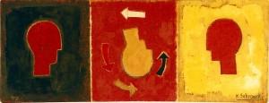 Ikon - D, 1998, ÖL/Leinwand,28x71,5 cm