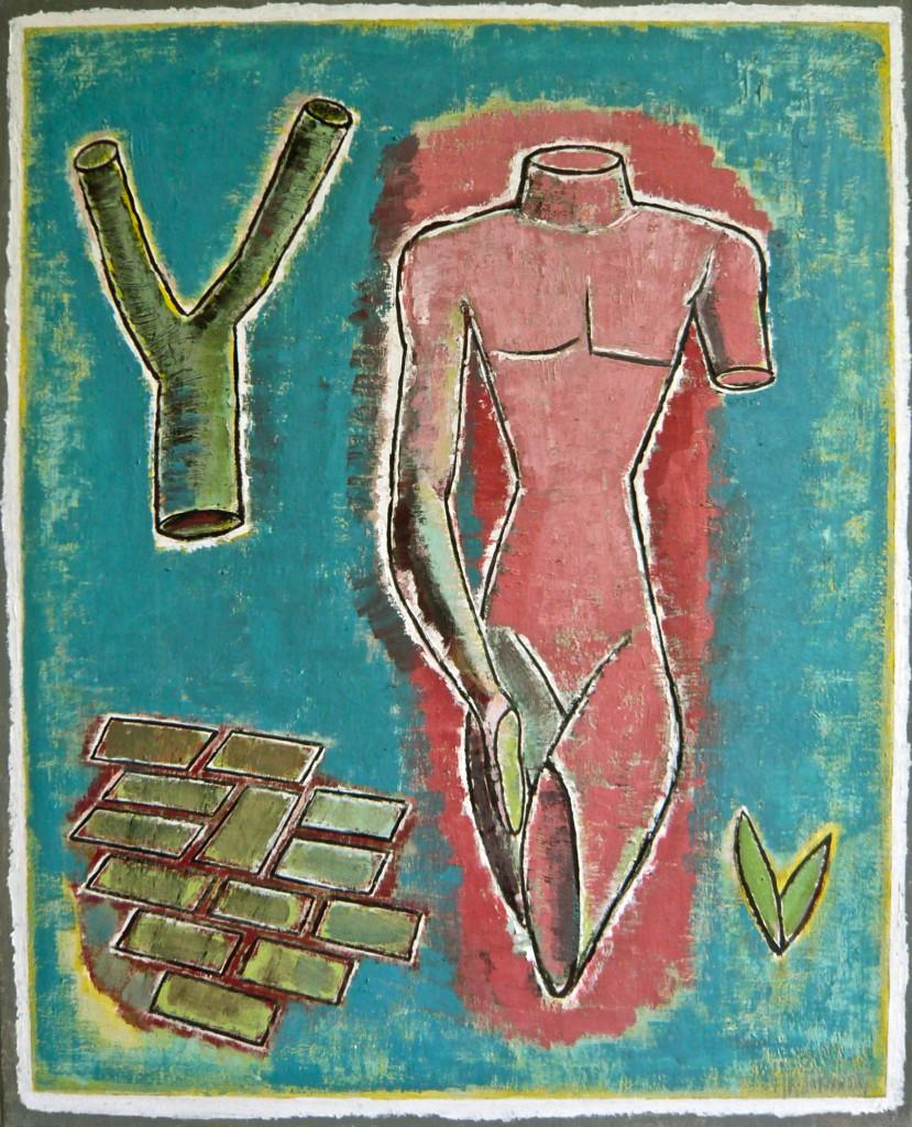 Der Gärtner, 2004, Öl/Leinwand,100x80 cm