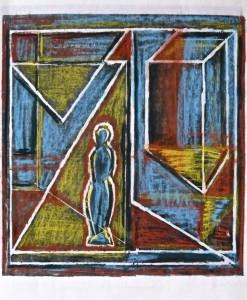 Denkraum,2010, Enwurfszeichnung, 35x32cm