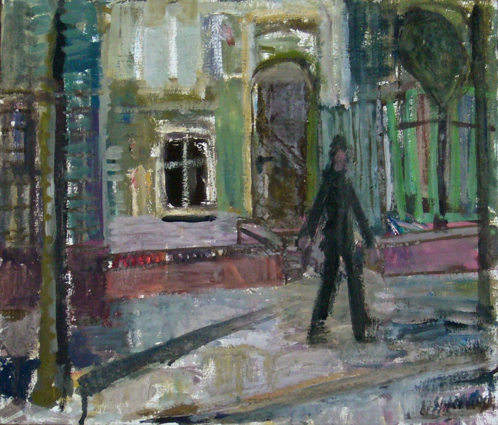 Gegenüber, 1980, Öl/Leinwand, 30x36cm