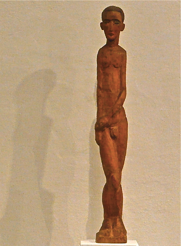 K.S. -Stehender-, 1988,Buchsbaumholz, 84x12x12 cm
