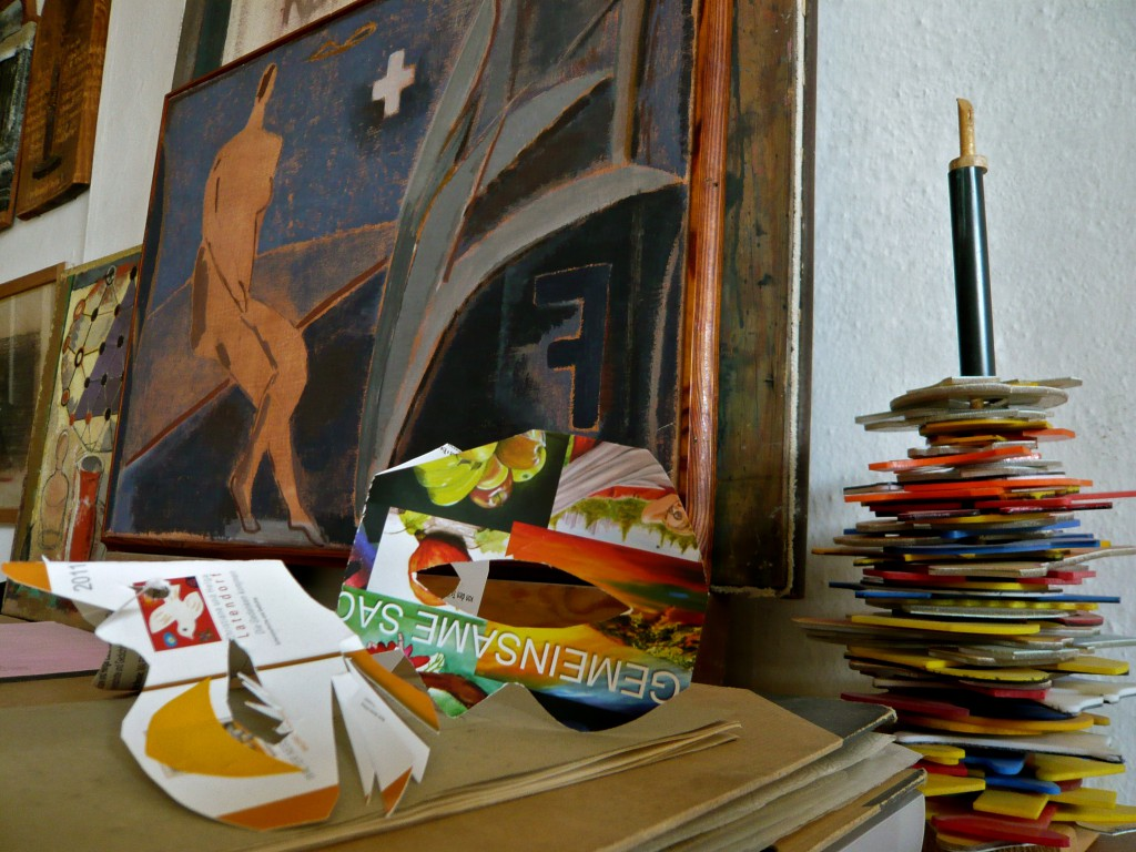 Fotocollage, Atelierstilleben