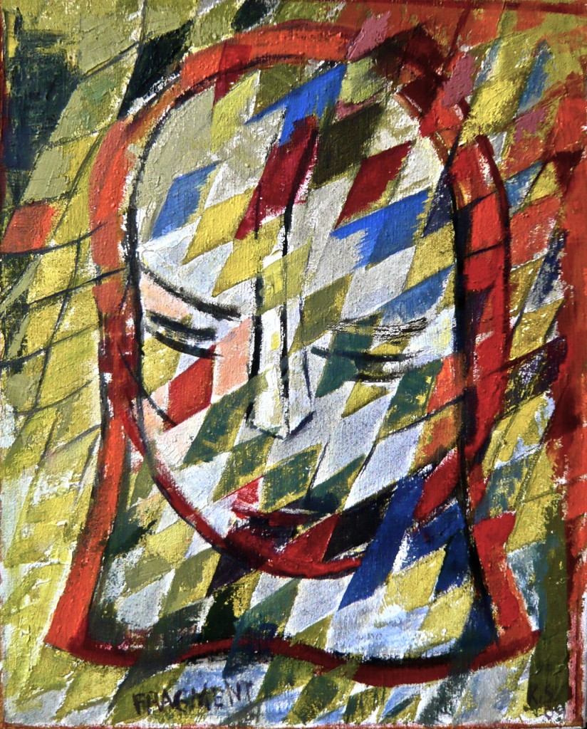 K.S., 2009/12, Öl auf Leinwand, 50x40 cm