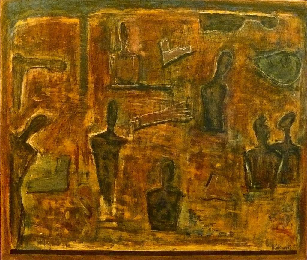 K.S., 1992/93, Öl auf Leinwand, 120x140 cm, Senat von Berlin,