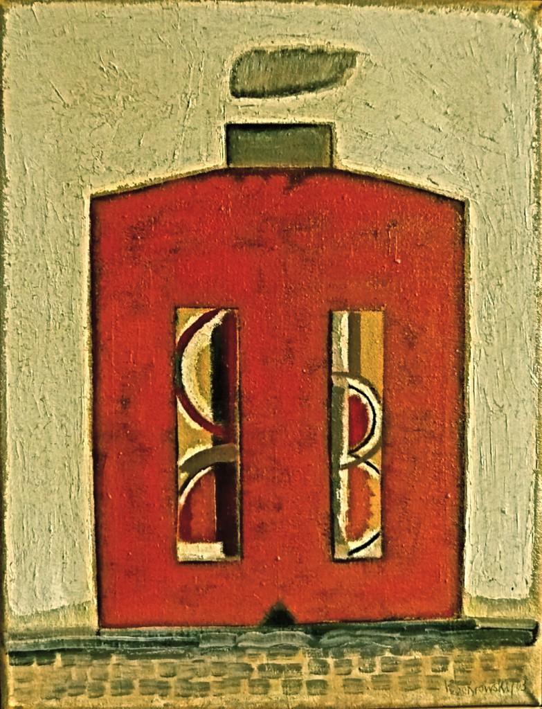 K.S. Der Block (Malewitsch), 2003/05, Öl/Leinwand, 56x43 cm
