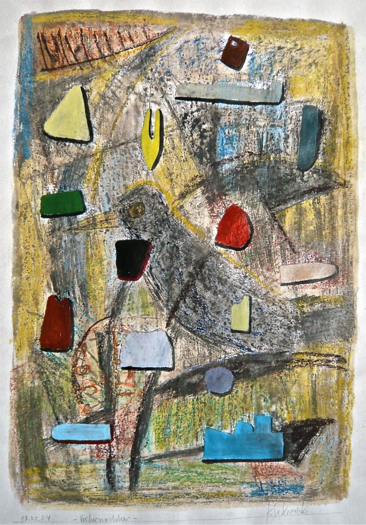 Vorher-Nachher, K.S.,2004, Mischtechnik auf Papier, 42x29,5 cm