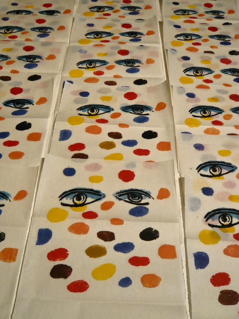 K.S., 2013, Blick-Entfaltung, Farbholzschnitt auf Japan,
