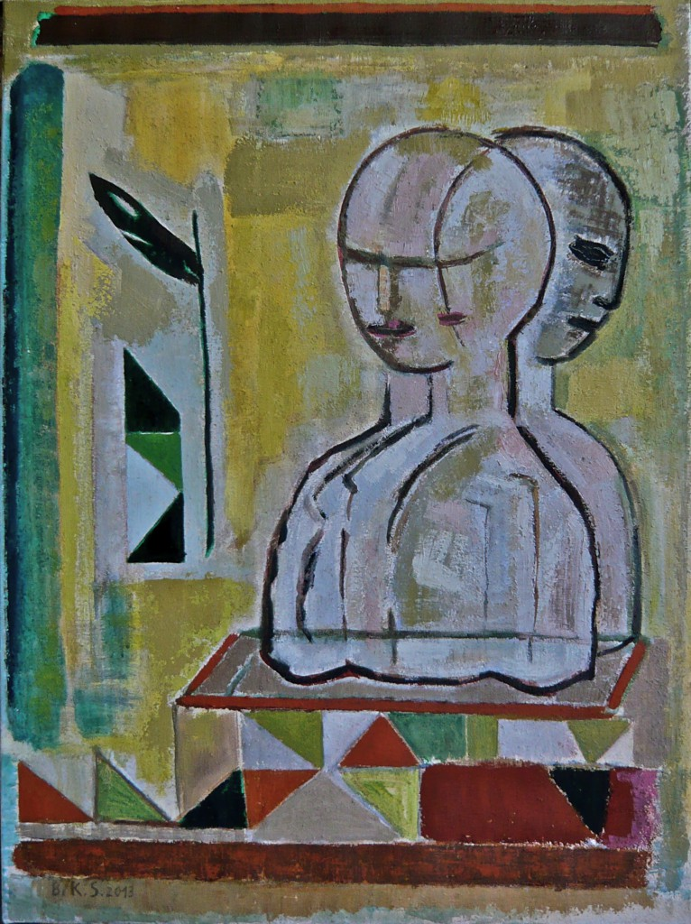 -Mein Zwiegespräch- K.S., 2013, Öl auf Leinwand 80x60 cm