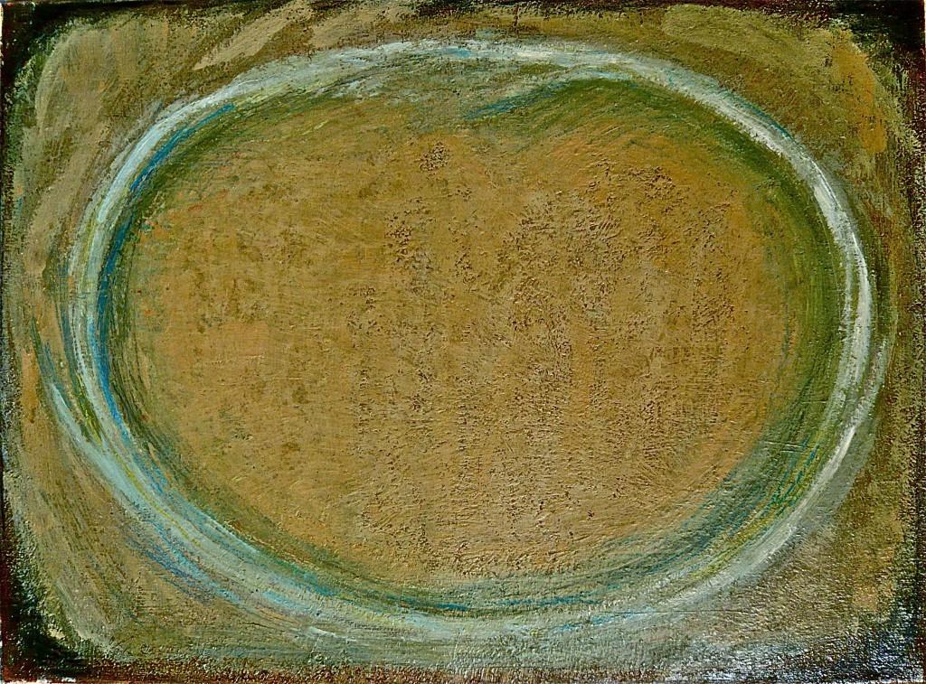K.Sskrowski, 2011,-Ellipse (Aufschlag)-,Öl auf Leinwand