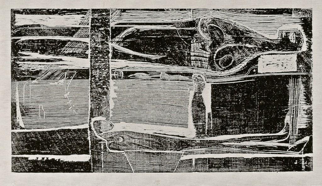 Eingeschlossene _Figuren, zu: Franz Kafka, das Schloß, 1987