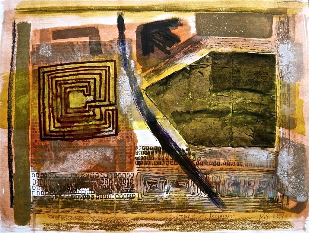 K.S., 2014, Collage und Mischtechnik auf Karton, 30x40 cm
