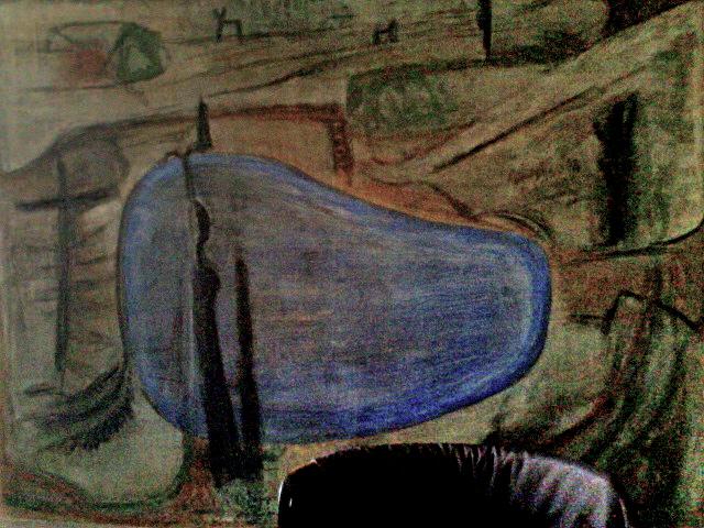 K.S.,1992, -Große Landschaft mit Blau- 160x200cm,Foto am 02-11-2014 um 13.16