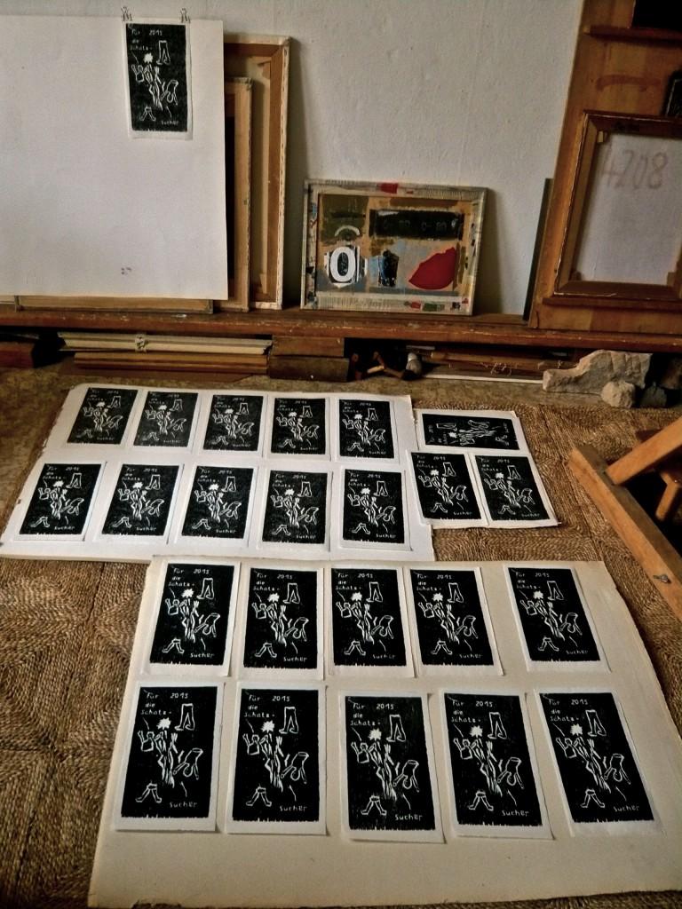 K.S., Digitalaufmahme, Edition 2015, im Atelier