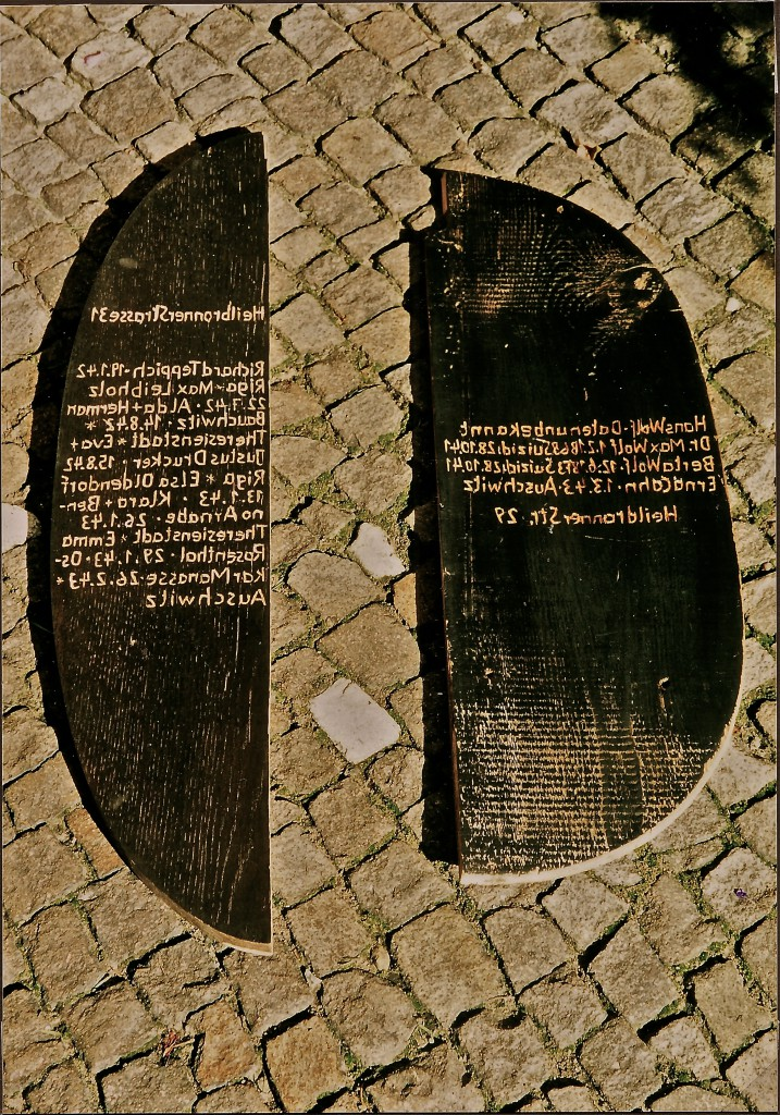 K.S., Gedenkteile, Heilbronner Str., Berlin Schöneberg