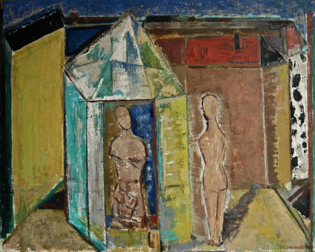 K.S., Drinnen und Draußen, 2014/15, Öl auf Leinwand,80 x100 cm