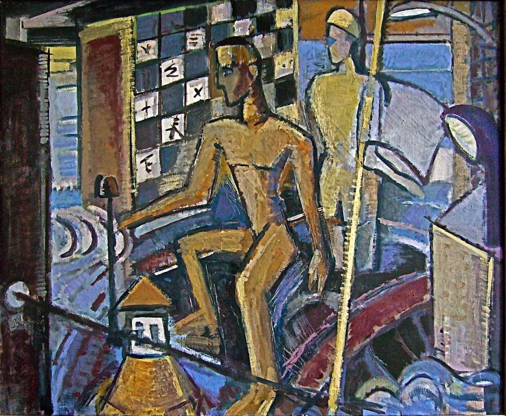 K.S.,1984/86, Öl auf Leinen,  90x110 cm