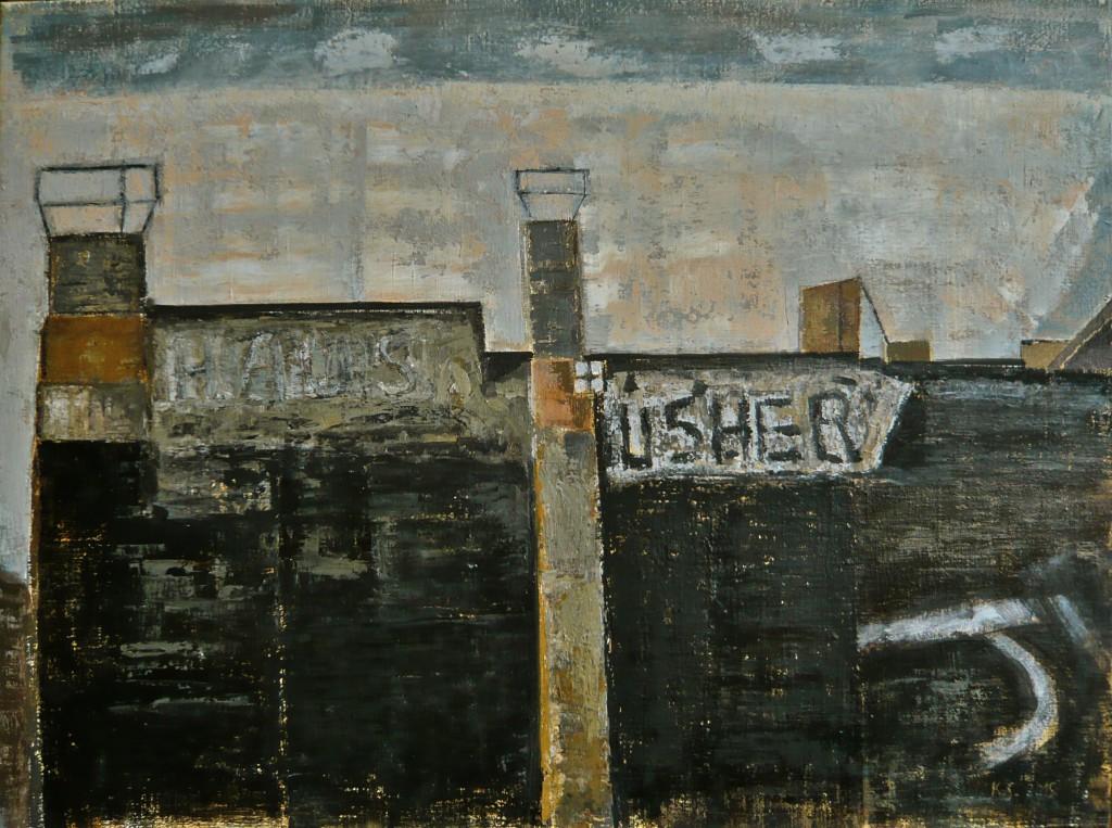K.S., -Haus Usher-, Öl auf Leinwand, 60x80 cm