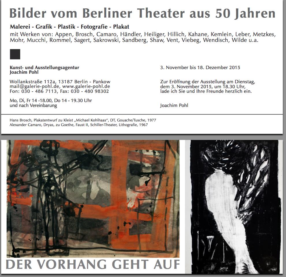 -Der Vorhang geht auf-Einladungskarte, Galerie Pohl, 2015,