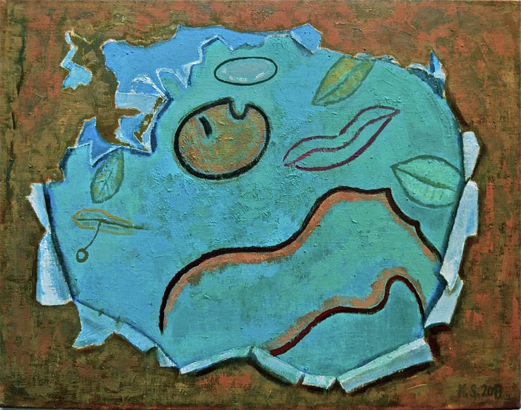 -Im Mittelgrund- K.S., 2011/13, Öl auf Leinwand, 60x75 cm