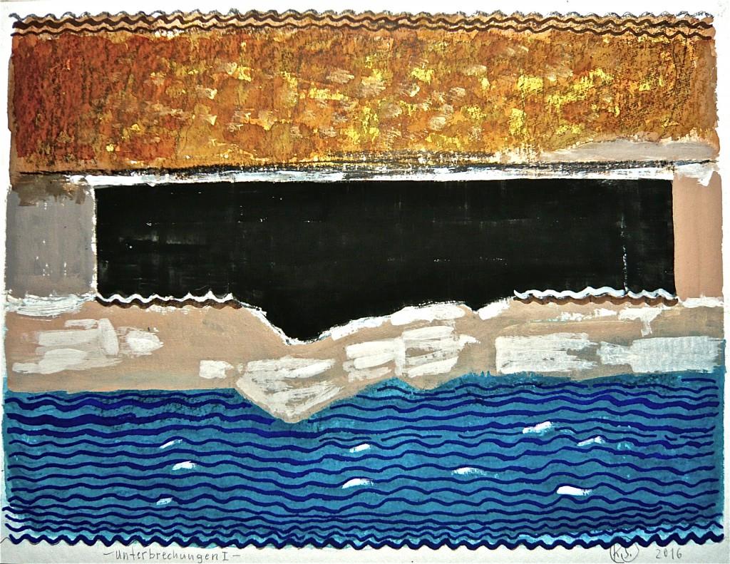K.S., 2016, Mischtechnik auf Aquarellkarton, 30x40 cm
