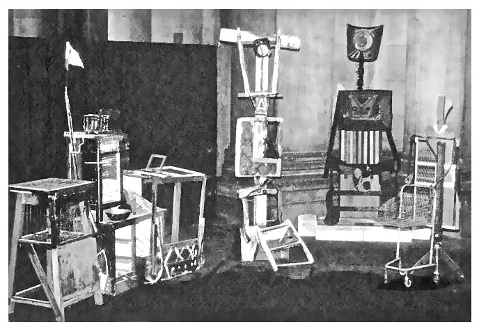 Gerd Sonntag,-Ein Mitwoch im November in Ostberlin-, Installation, Ausstellung 1985-86 im Berliner Dom