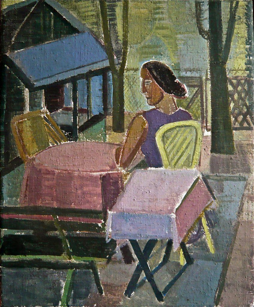 K.S.,1983, -Weekend-, Öl auf Leinwand, 61,5x50