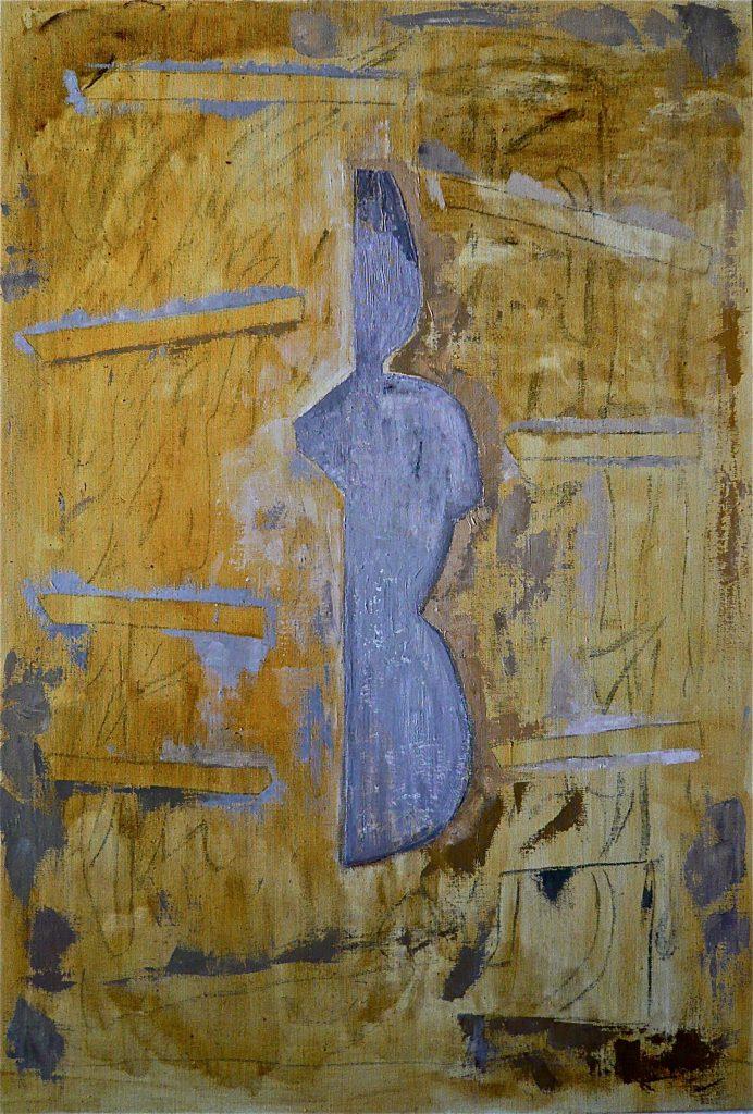 K.S., 2016, Tansformation, 1. Zustand, Öl/leinwand, 110x75